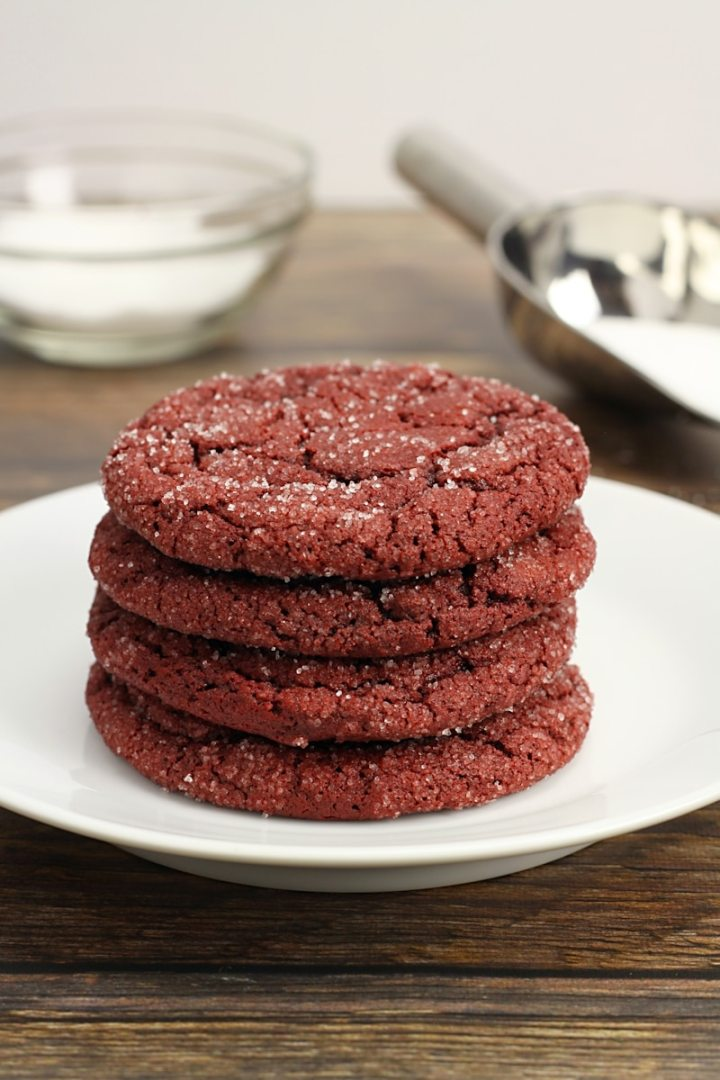 Red Velvet Sugar Cookies by The Toasty Kitchen