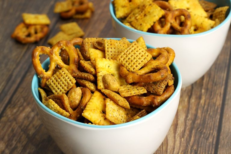Buffalo Ranch Chex Snack Mix by The Toasty Kitchen