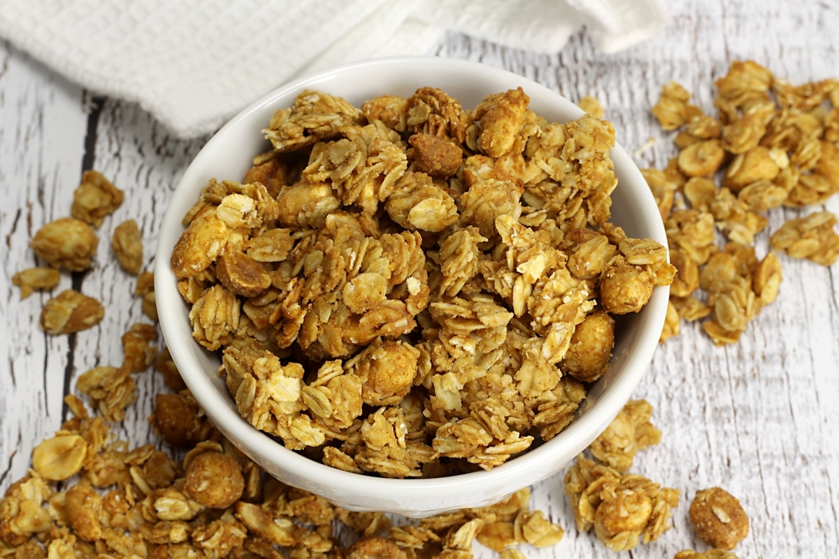 Peanut Butter and Honey Granola by The Toasty Kitchen