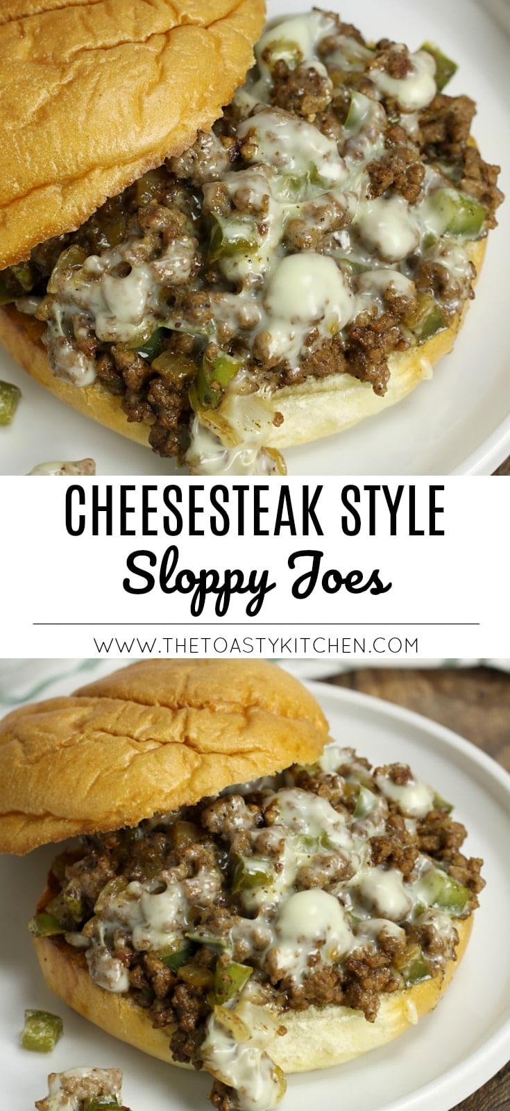 Cheesesteak Style Sloppy Joes by The Toasty Kitchen