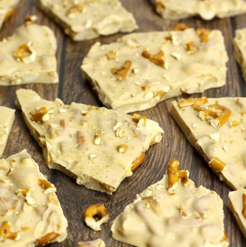 Peanut Butter Pretzel White Chocolate Bark by The Toasty Kitchen