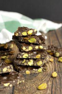 Pistachio Toffee Dark Chocolate Bark by The Toasty Kitchen