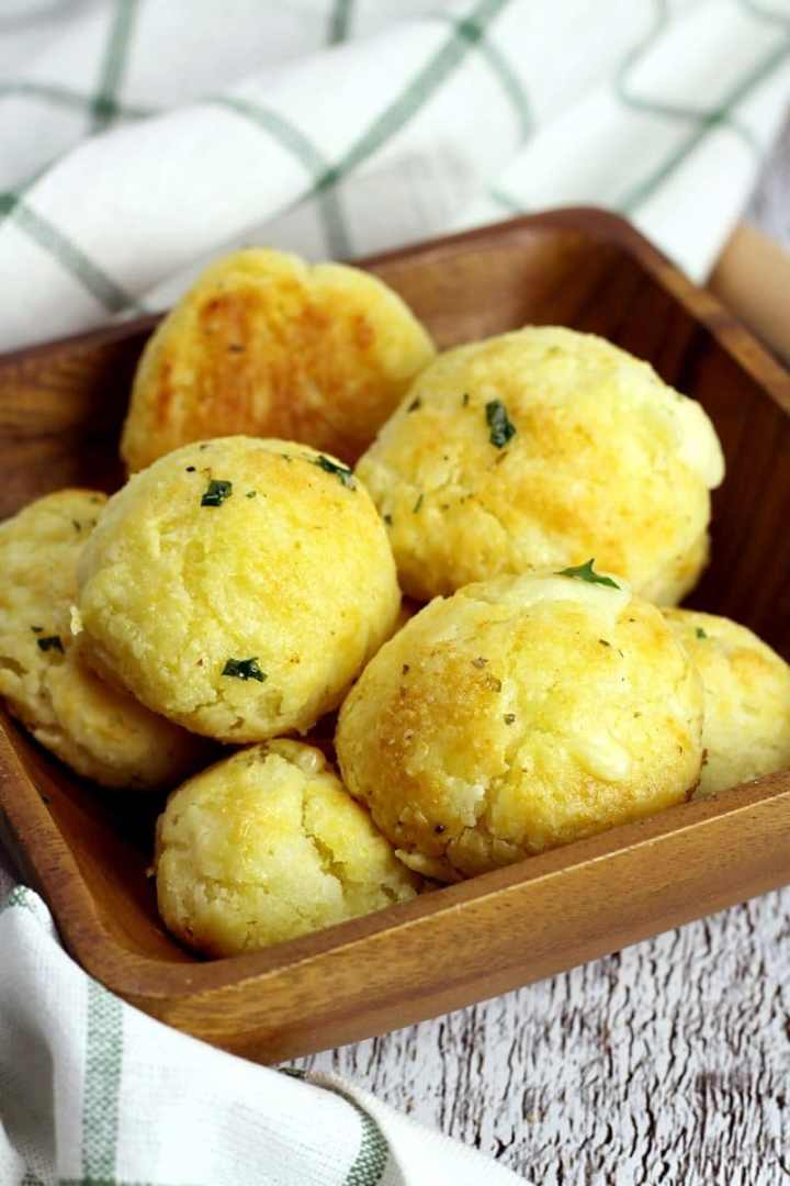 Garlic Bread Cheese Bombs by The Toasty Kitchen