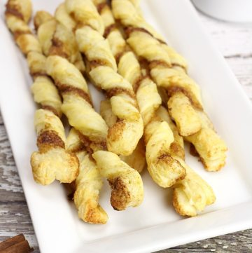 Puff Pastry Cinnamon Twists by The Toasty Kitchen