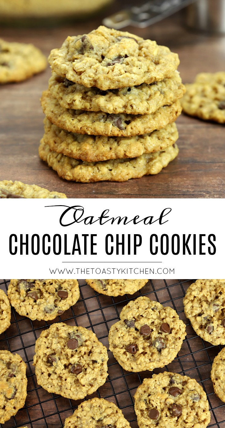 Oatmeal Chocolate Chip Cookies by The Toasty Kitchen