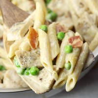 Leftover Turkey Alfredo Skillet Meal