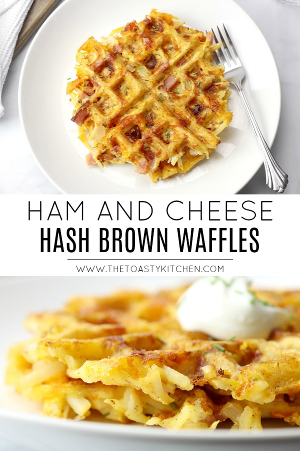 Ham and Cheese Hash Brown Waffles by The Toasty Kitchen
