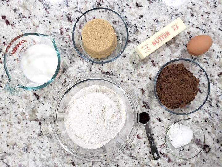 Ingredients for whoopie pies.