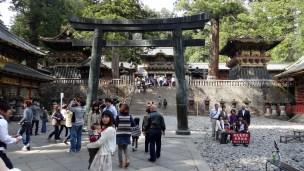 Nikko temples people posing