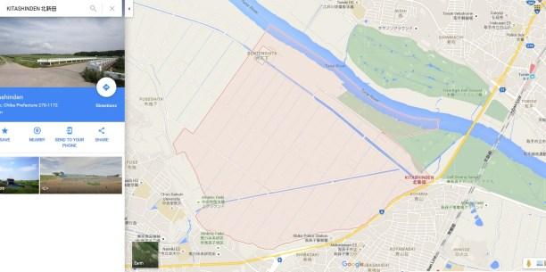 Chiba Japan fields KITASHINDEN map
