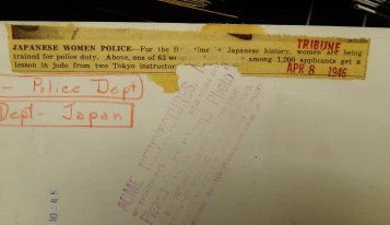 Japan Women's Police 1200 applicants 1946