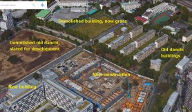 UR Akabanedai danchi and Nouvelle construction aerial