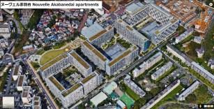 UR Nouvelle Akabanedai danchi green roofs