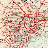 Map of American occupied Tokyo, 1948 GHQ東京占領地図