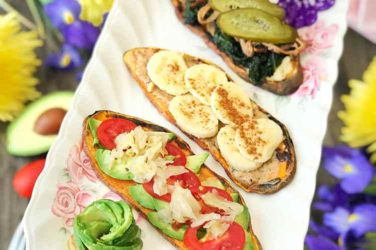 Sweet potato toast platter