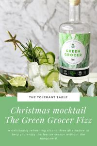 Christmas Mocktail The Green Grocer Fizz Pinterest