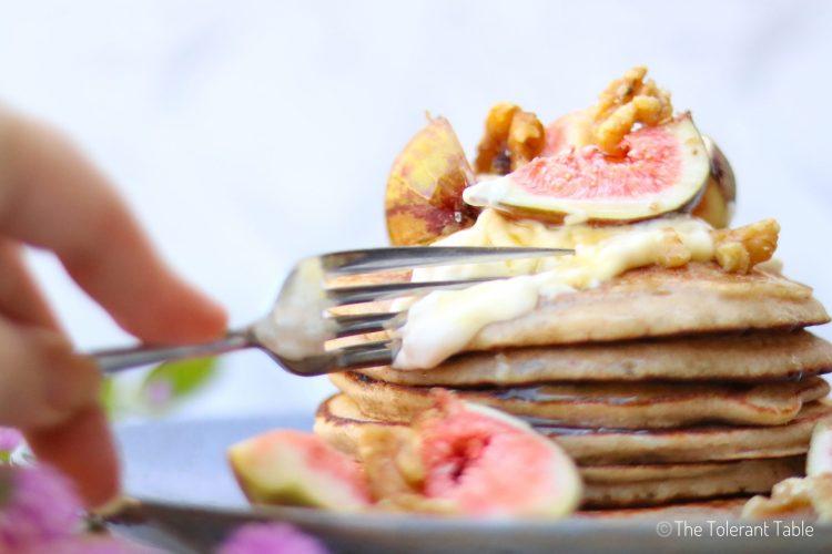 GF Sourdough Pancakes close up