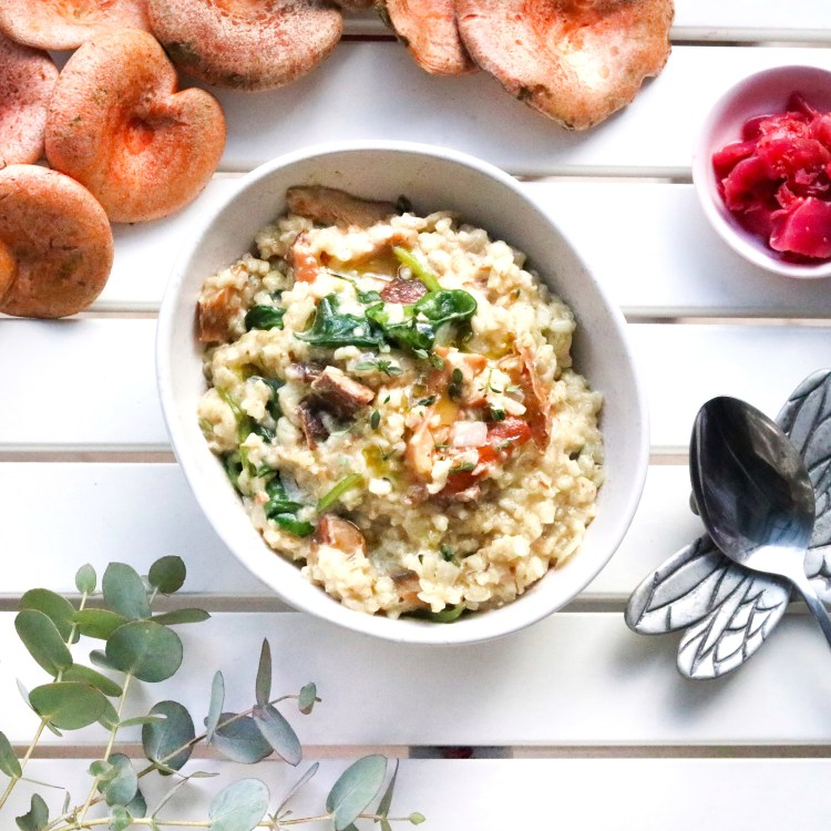 Wild mushroom risotto square