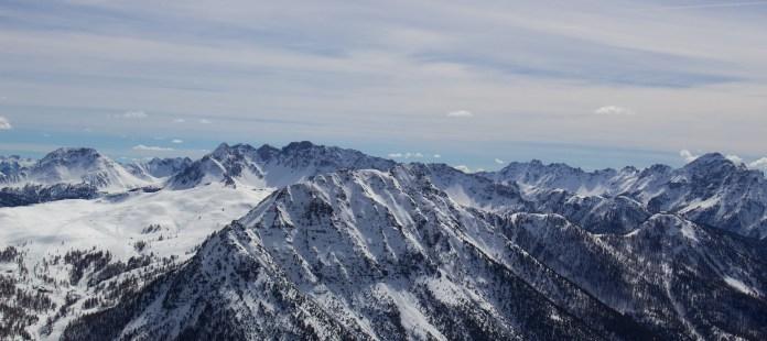 View from Montgenevre's highest peak