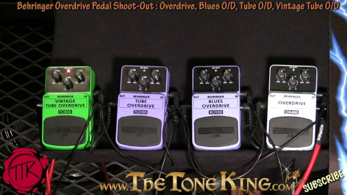 Behringer Overdrive Pedal Shoot Out To800 To100 Bo100 Od400 Strat Squire Wire Diagram Vintage Tube Blues 30 Pedals Day 16 The Tone King