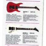 Charvel Guitars Catalog - 1986