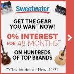 Who wants an interest free loan on the gear YOU want?  Sweetwater has you covered!