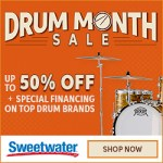 June is DRUM MONTH at Sweetwater - get your bangin' on!