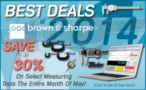 Brown and Sharpe Measuring Tools Promo