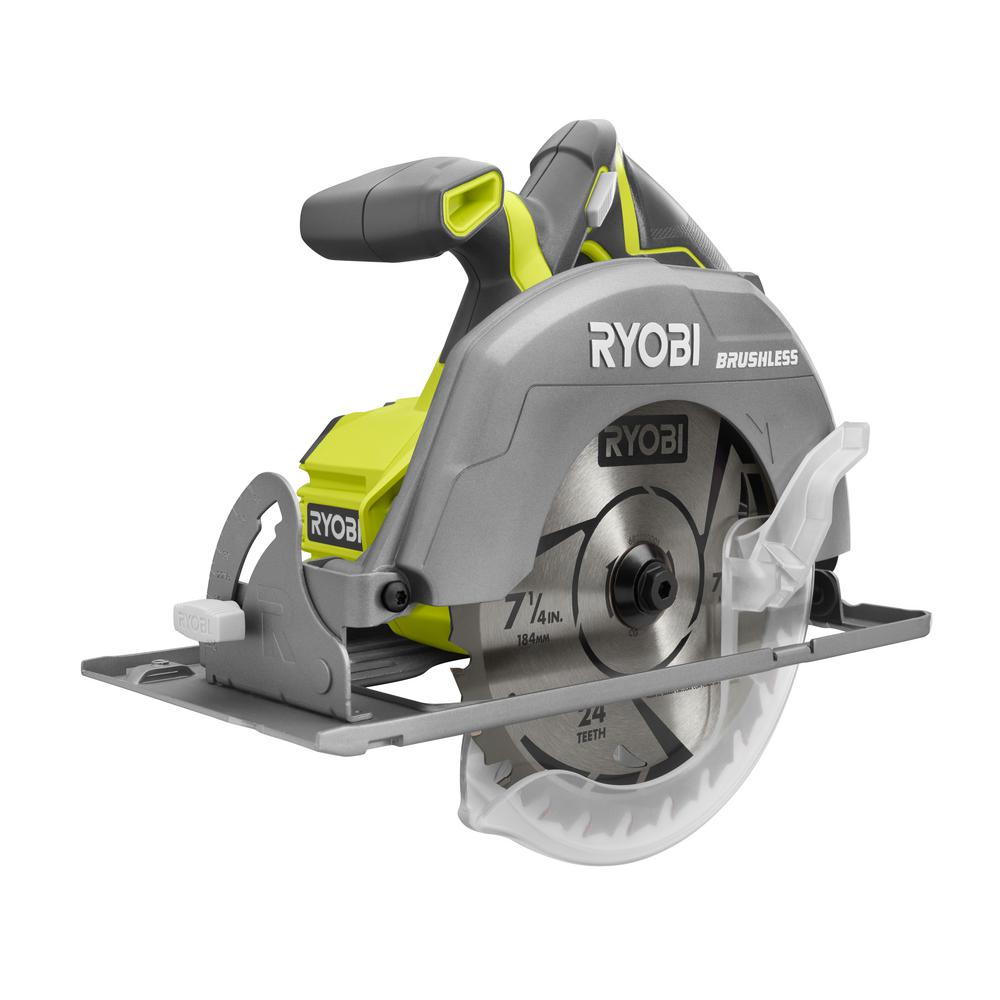 Ryobi 18v one cordless 7 14 in brushless circular saw thd its greentooth Image collections