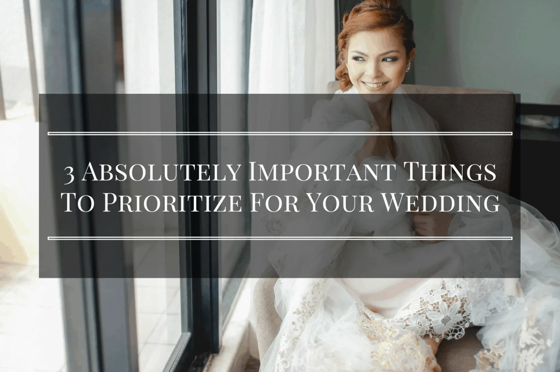 things to prioritize