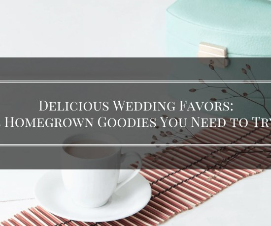 delicious wedding favors