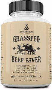 ancestral supplements grassfed beef liver, desiccated liver, desiccated liver tablets, desiccated liver benefits, what is desiccated liver