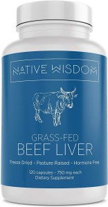 native wisdom grass fed beef liver capsules, desiccated beef liver, benefits of eating liver, desiccated liver tablets, what is desiccated liver