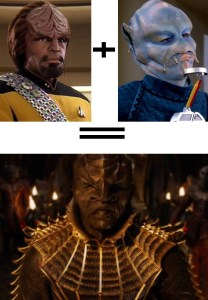 Discovery TNG Klingon plus Benzite equals Discovery Klingon