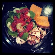 Chicken, Sweet Potato and Spicy Salad