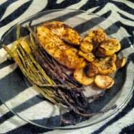 Tilapia, Squash and Asparagus
