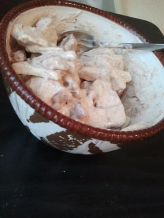 Apple, Yogurt, Peanut Butter and Cinnamon