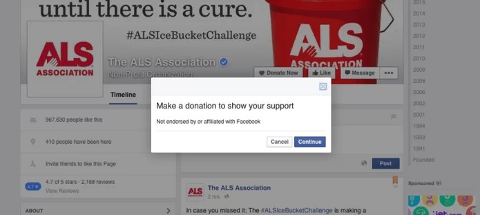 Facebook Donate Now Button To Nonprofits 2