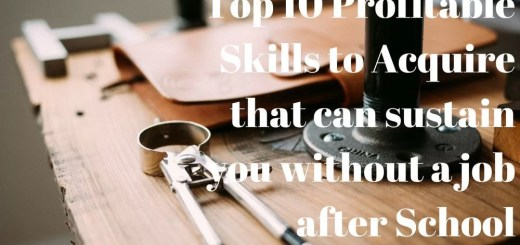Top 10 Profitable Skills to Acquire that can sustain you without a job after School
