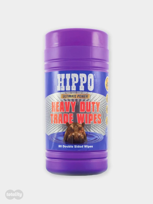 Hippo Heavy Duty Trade Wipes Large Tub Pack of 80