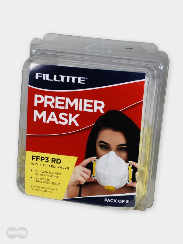 Filltite Premier FFP3 Face Mask Pack of 5