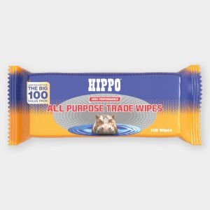 Hippo All Purpose Trade Wipes Grab Bag Pack of 100