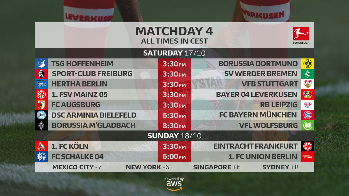 Bundesliga matchday 4 preview - the touchline sports
