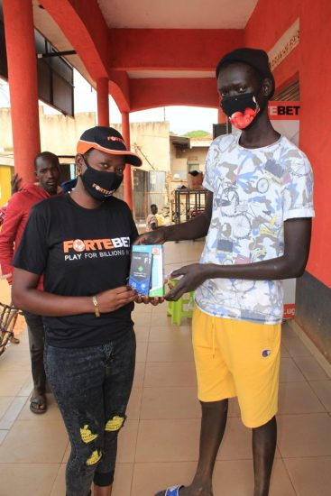 Fortebet rewarded this winner at Karuma main centre with a phone