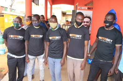 Fortebet's T-shirts winners at Bweyale main centre