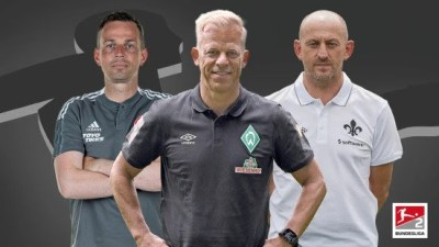 Who are the coaches in Bundesliga 2 for 2021/22?