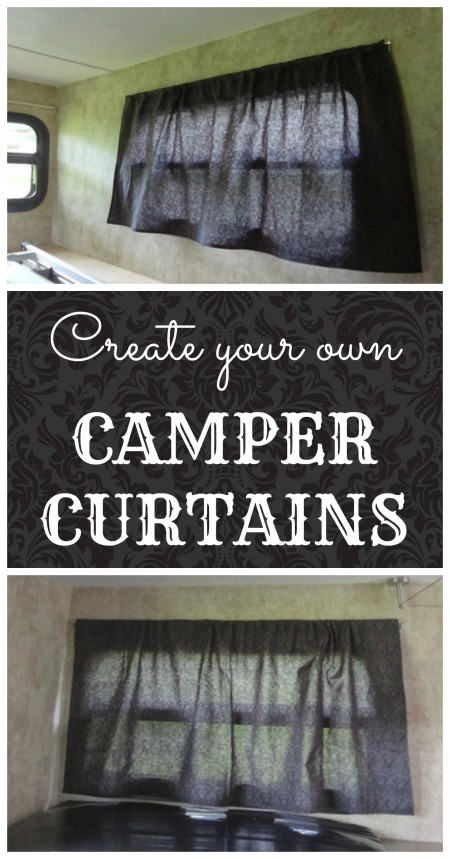 make your own camper window curtains