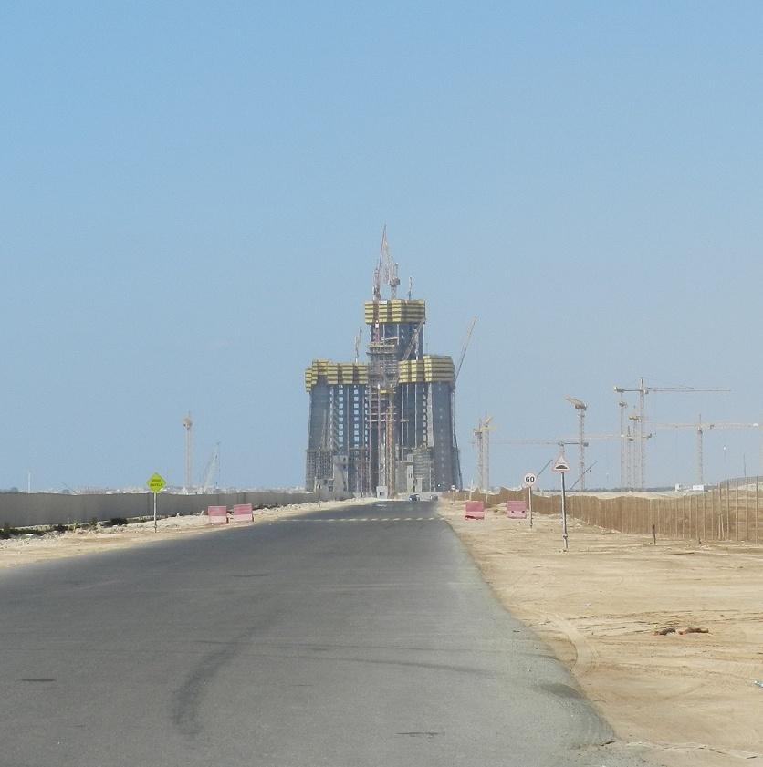 Jeddah Tower seen in November 2015