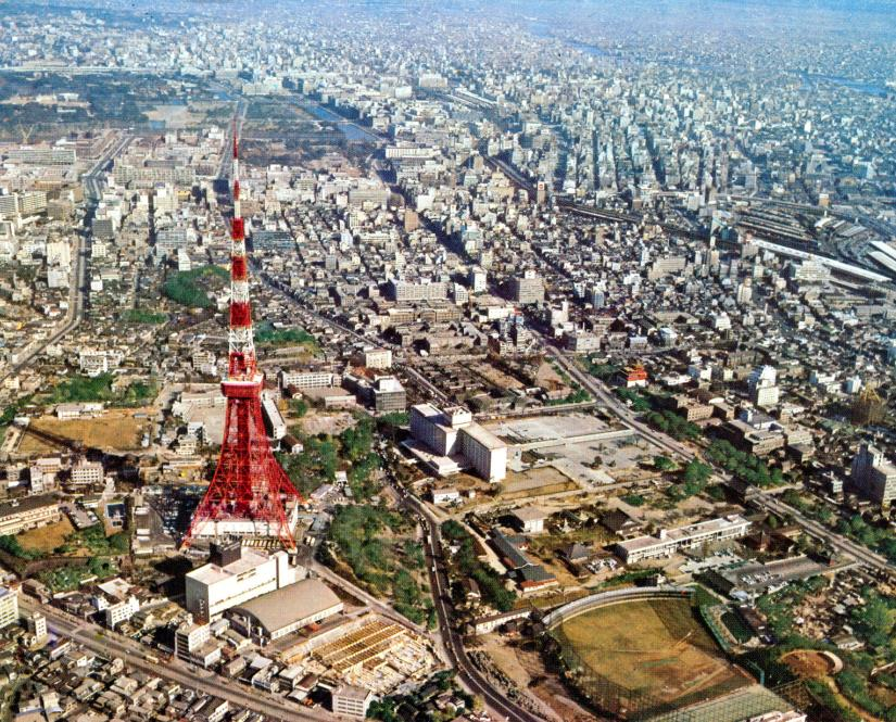 Tokyo Tower appeared in 1960s