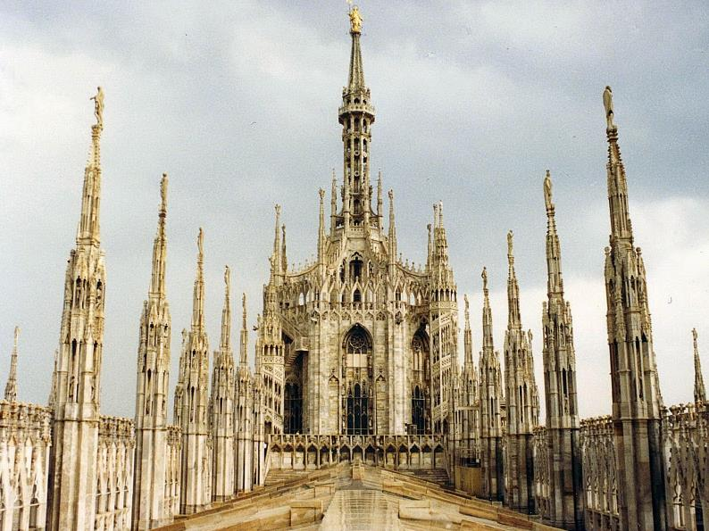 The observatory on the roof of Milan Cathedral